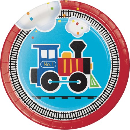 All Aboard Train Dessert Plates, 24-Pack