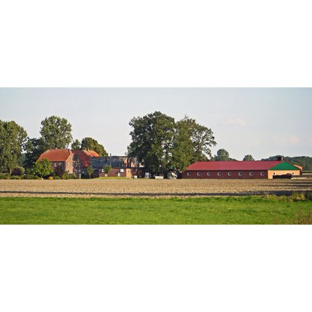 Mast Systems - LAMINATED POSTER Farm Manor House Stables Large-bauer Mast System Poster Print 24 x 36