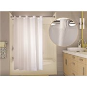 WINGINTS PREHOOK® SHOWER CURTAIN, 150 DENIER POLYESTER, 71 IN. X 84 IN., WHITE