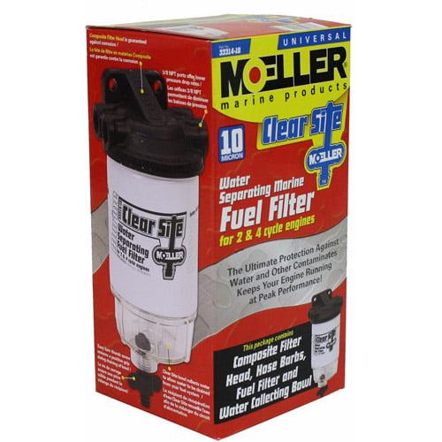 Moeller Composite Fuel Filter Clear Bowl Kit