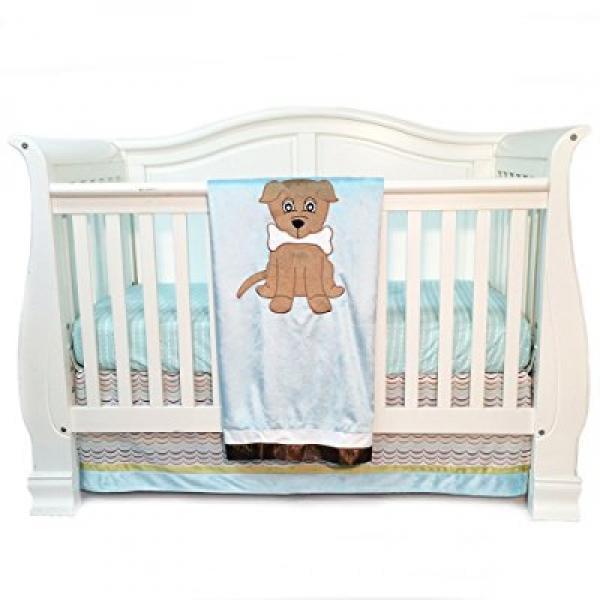 One Grace Place Puppy Pal Boy Infant Crib Bedding Set, Po...