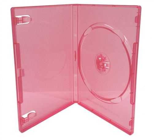 CheckOutStore 500 STANDARD Clear Red Color Single DVD Cases