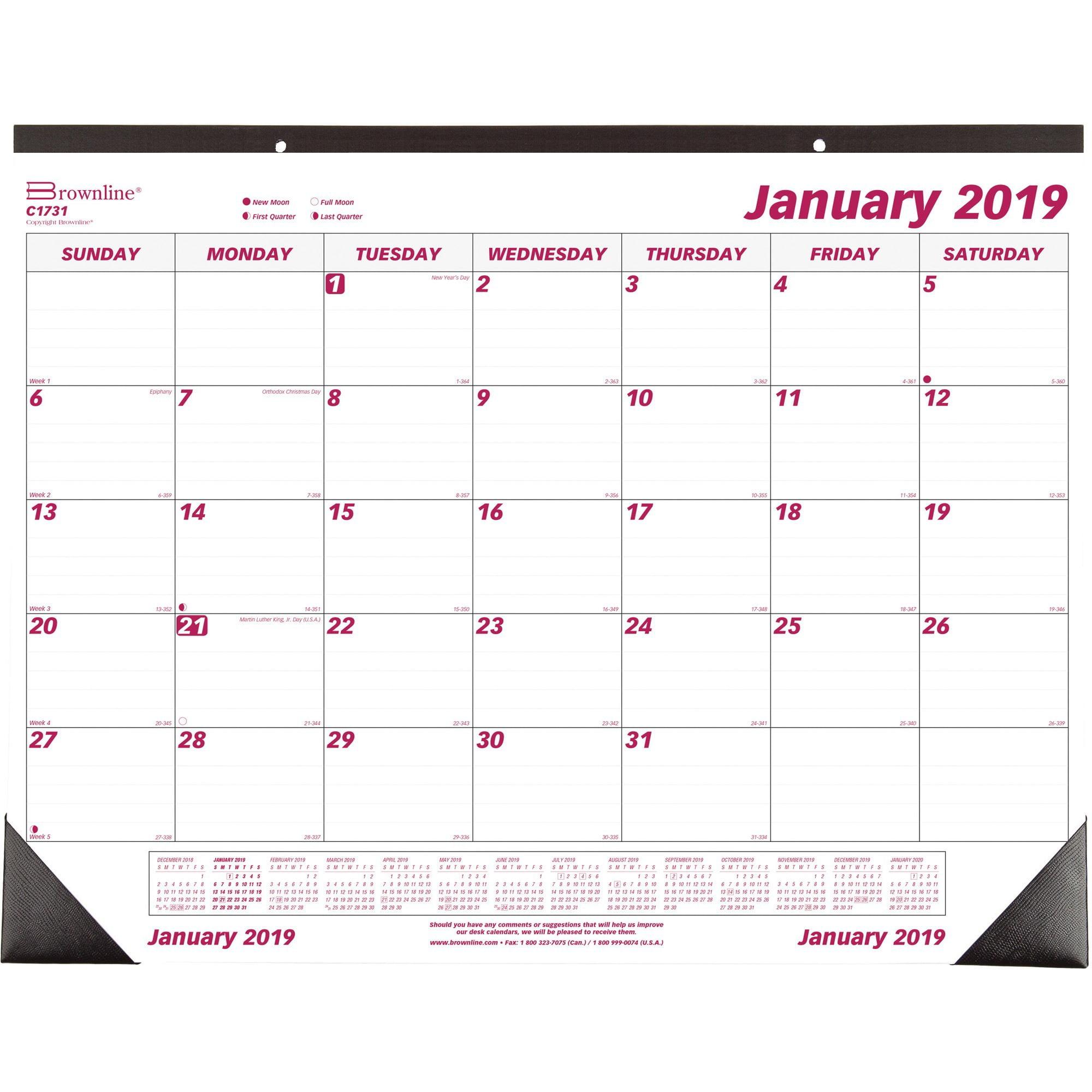 Brownline Monthly Desk/Wall Calendar (c1731)