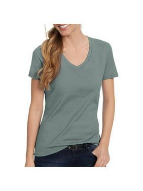 Hanes Women's Nano-T V-Neck T-Shirt