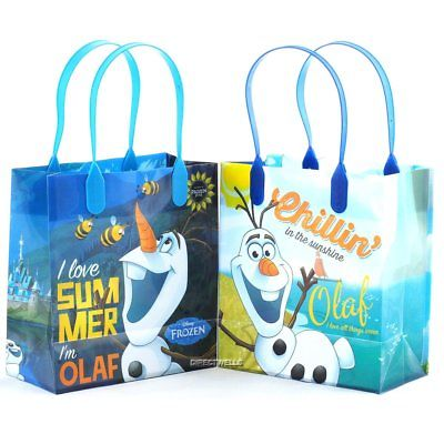 12PCS Disney Frozen Olaf Authentic Goodie Party Favor Gift Birthday Loot Bags! - Frozen Goodie Bags