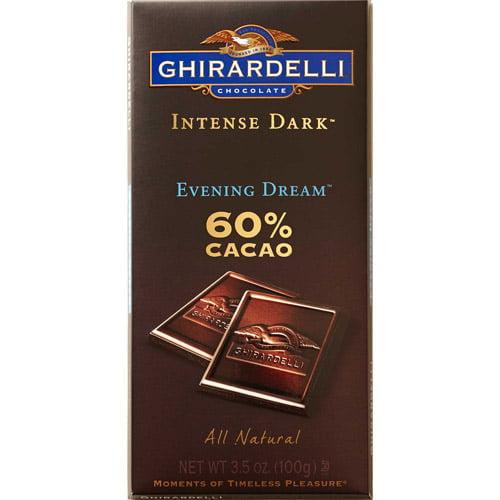Ghirardelli: Intense Dark Evening Dream 60% Cacao Dark Chocolate Candy, 3.5 Oz