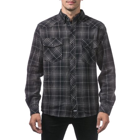 Small Flannel (Pro Club Men's Flannel Shirt, Small, (Black, Charcoal, Heather)
