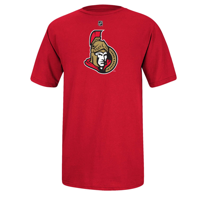 Ottawa Senators Reebok Primary Logo NHL Men T Shirt Red XXL