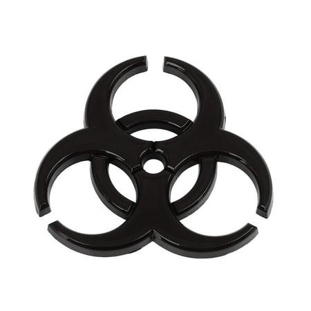 Universal Black Self Adhesive Car Body Metal Decorative Emblem Badge Decal Sticker