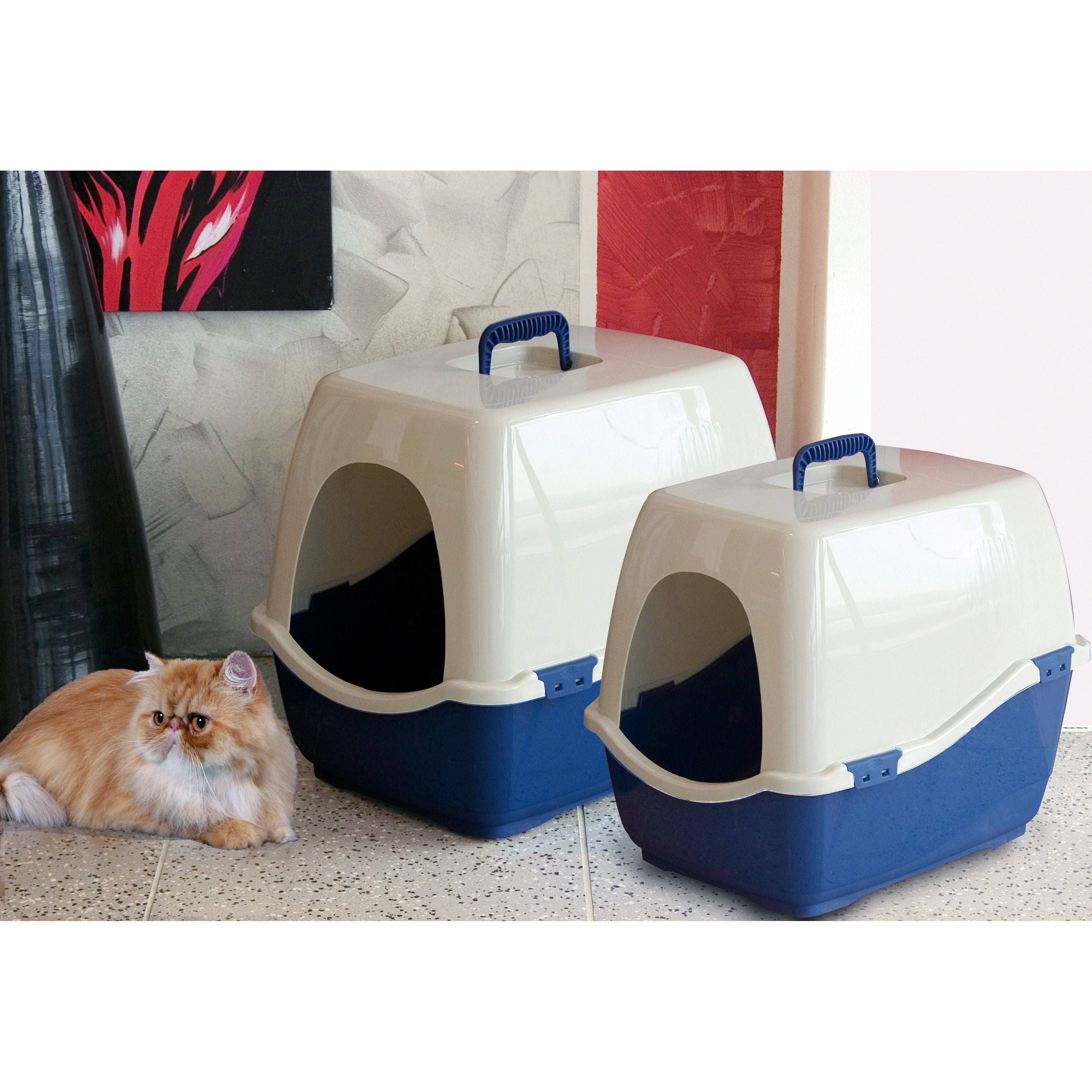 Marchioro Bill Covered Cat Litter Box