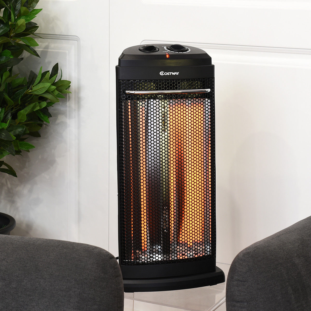 Costway Infrared Electric Quartz Heater Living Room Space Heating ...