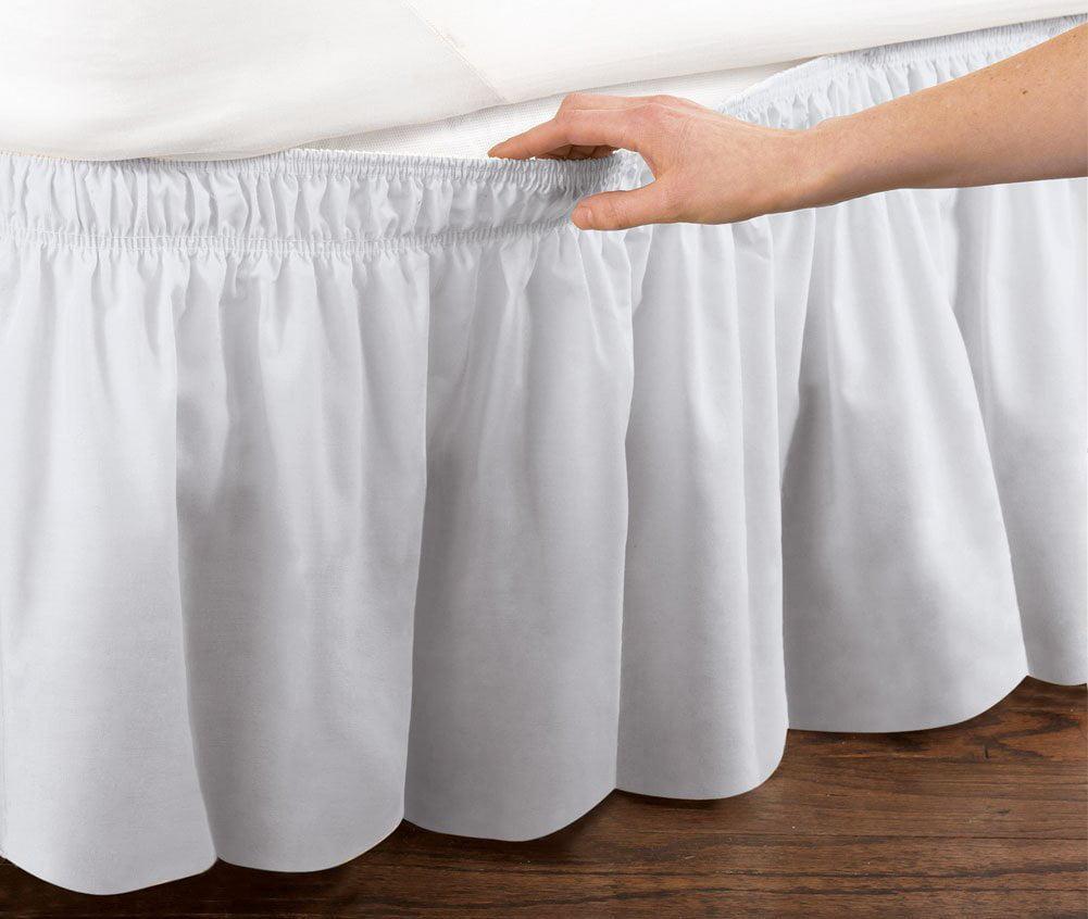 White Queen Easy Wrap-Around Bedskirt