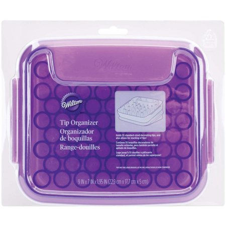 Piping Tips Organizer Case - Cake Decorating Supplies, Storage case keeps piping tips organized for easy access when decorating By Wilton