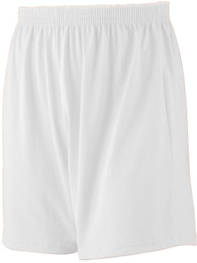 Augusta Boy's Elastic Waistband Jersey Knit Short, White, X-Small