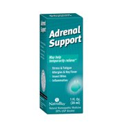 NatraBio Adrenal Support Drops   Homeopathic Formula for Temporary Relief from Stress, Fatigue, Allergies, Insect Bites & Inflammation   1oz