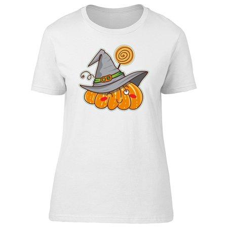Winking Pumpkin (Winking Pumpkin Witch Hat Tee Women's -Image by)