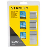 STANLEY STHT74749 Heavy Duty Assortment Staples, 2000 Count