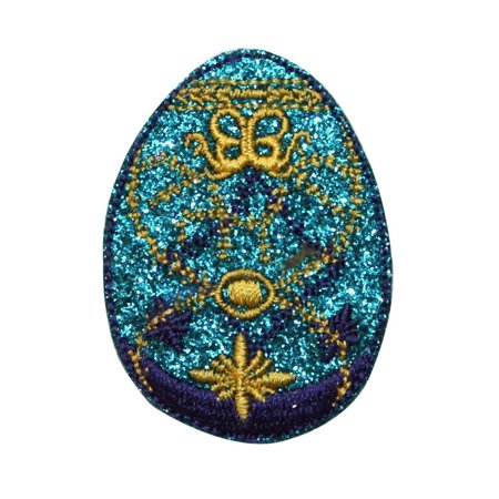 ID 3344 Faberge Easter Egg Patch Decorative Jeweled Embroidered Iron On Applique ()