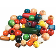 School Smart Pony Beads Bulk, 1/2 to 1 Inch, Assorted Shapes and Colors, 1 Pound