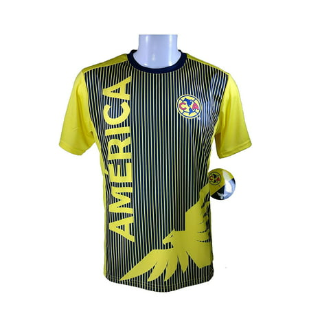Icon Sport Grouo Club America Soccer Official Adult Soccer Poly Jersey -J005 - Adult Soccer Officials Jersey