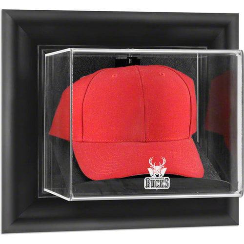 NBA - Milwaukee Bucks Framed Wall Mounted Logo Cap Display Case