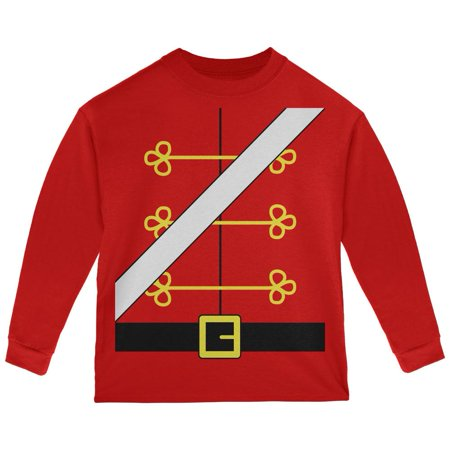 Christmas Toy Soldier Nutcracker Costume Toddler Long Sleeve T Shirt - Toy Soldier Clothing