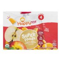 (8 Pouches) Happy Tot Super Foods Pouches Organic Apples & Butternut Squash + Super Chia, 4.22 OZ