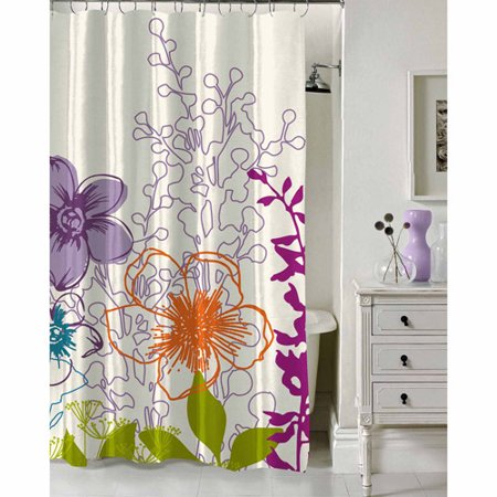 Formula Multi Floral Shower Curtain X Walmart Com
