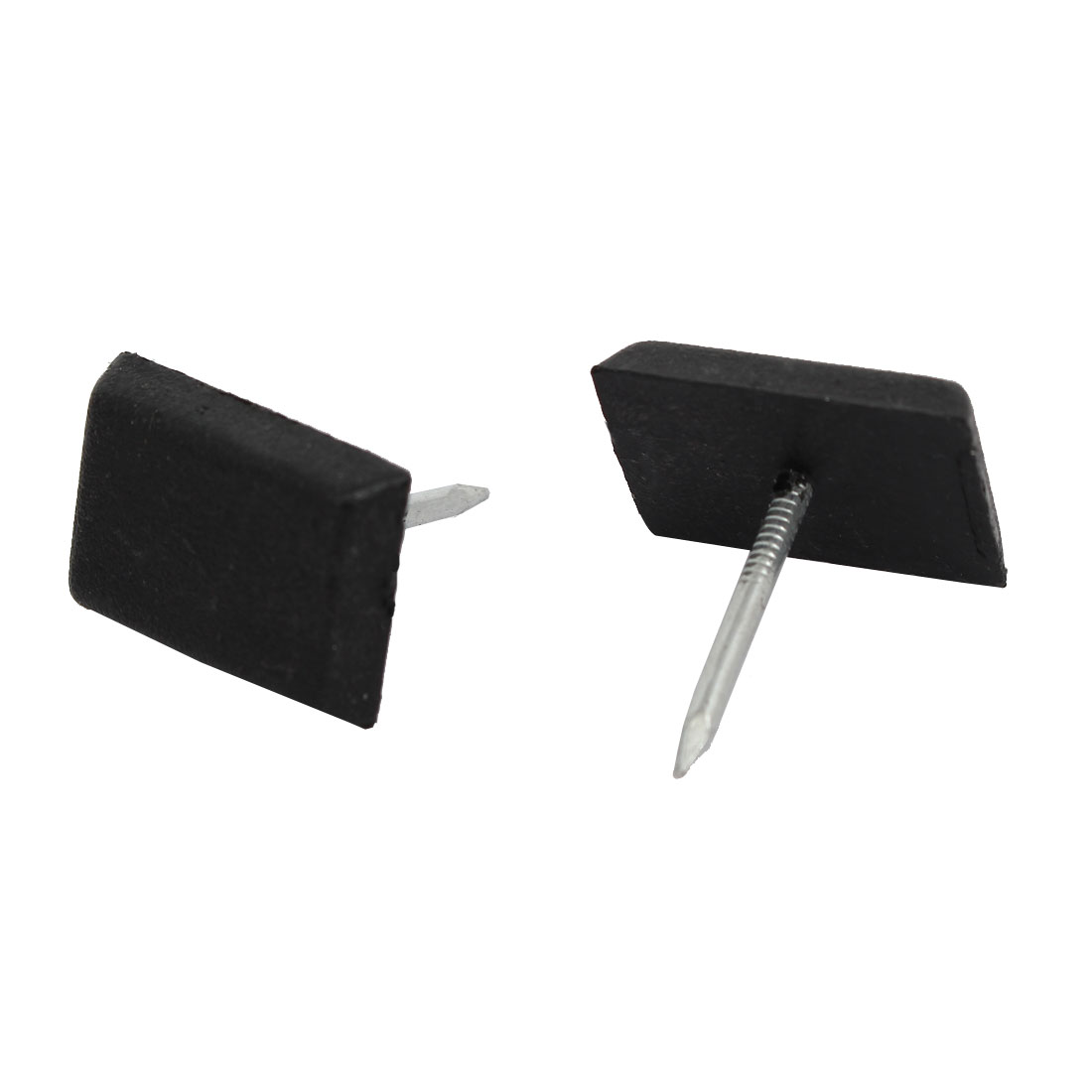 Unique BargainsWood Furniture Leg Foot Floor Protector Pad Glide Nails Black 18mm x 12mm 30PCS - image 2 of 3