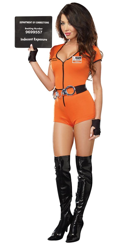sc 1 st  Walmart & Sexy Locked Up Inmate Costume Womens Prisoner Costume - Walmart.com