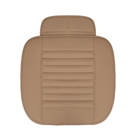 Four Seasons Monolithic Car Front Seats Cover Non-Slip Protector Mat Bamboo Charcoal Cushion Coffee