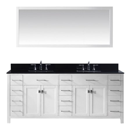 Virtu Md 2178 Bgsq Wh 002 Caroline Parkway 78 Inch Double Bathroom Vanity Set In White