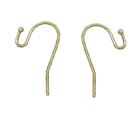 200 Earwires Gold Plated Copper Ear Wire Hooks Earring Findings Ball End 21x12mm 100 -