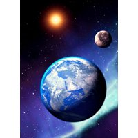 Earth from Space -  3 Lenticular 3D Postcard Greeting Cards