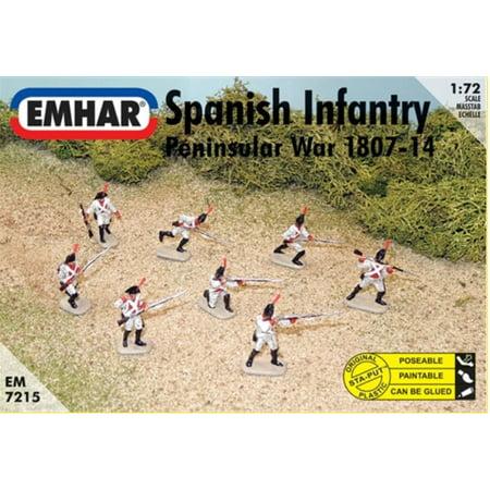 1/72 Peninsular War 1807-14 Spanish Infantry (46 & 1 Horse) (War Horse Figurine)