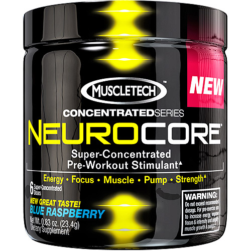 MuscleTech Concentrated Series NeuroCore Super-Concentrated Pre-Workout Stimulant Fruit Punch Dietary Supplement Powder, 0.83 oz