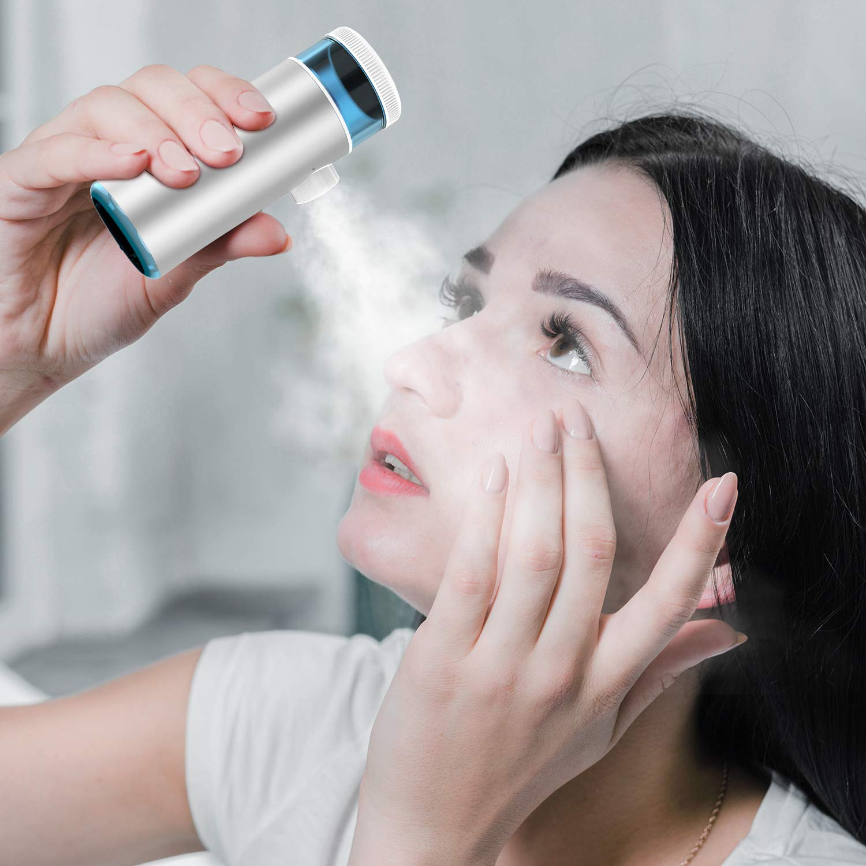 Cisno Mini Handheld Inhaler, Face Steamer ,Household USB Rechargeable Humidifier, Mist Kit
