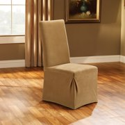 Sure Fit Stretch Pique Long Dining Room Chair Slipcover Image 2 Of
