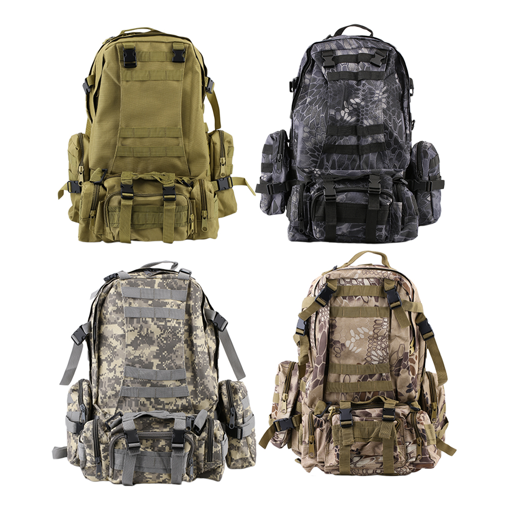 55L Tactical Military MOLLE Assault Backpack Pack Large Waterproof Bag Rucksack Sport Outdoor Bag for Hunting Camping
