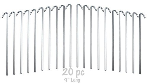 20-Piece Galvanized Steel Tent Pegs - Garden Stakes  sc 1 st  Walmart & 20-Piece Galvanized Steel Tent Pegs - Garden Stakes - Walmart.com