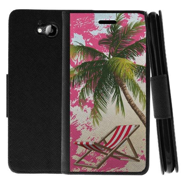 TurtleArmor ® | For ZTE Majesty Pro Z798BL, Z799VL [Wallet Case] Leather Cover with Flip Kickstand and Card Slots - Beach Lagoon