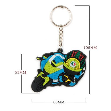 Mini Motorcycle Key Ring Fashion Design Rubber Keychain Pendant for Key Decoration - image 5 de 7