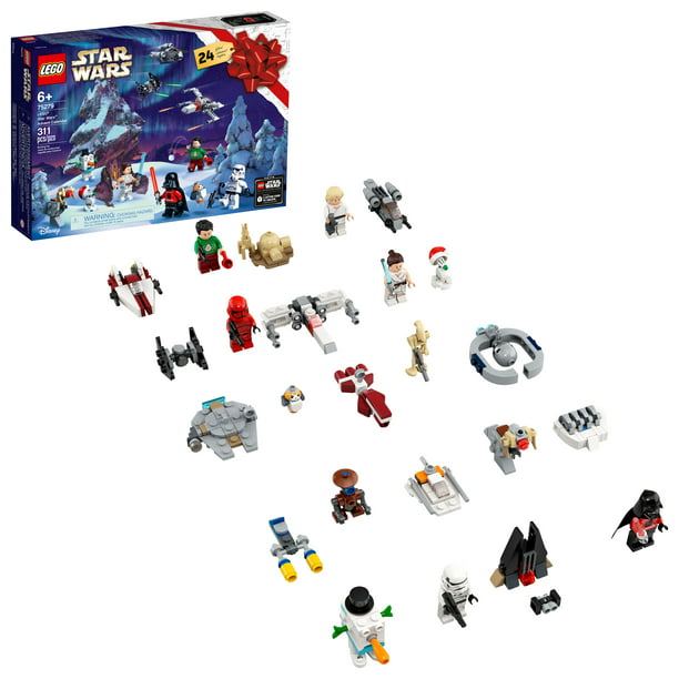 LEGO Star Wars Advent Calendar 75279 Building Kit, Fun Christmas Countdown Calendar with Star Wars Buildable Toys (311 Pieces) - Walmart.com - Walmart.com
