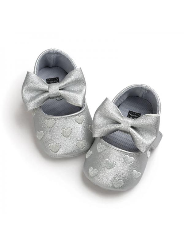 Prettyia Fashion Baby Prewalker Girls Soft Anti-skid Crib Shoes Prewalkers 0-12M