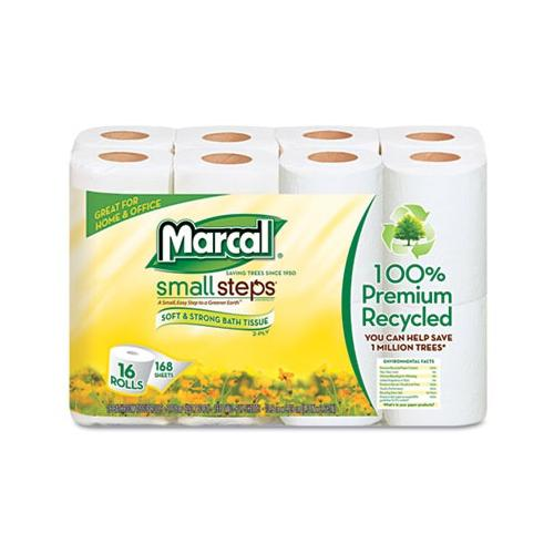 Marcal Manufacturing, Llc Small Steps 100% Recycled 2-Ply Toilet Tissue MRC16...