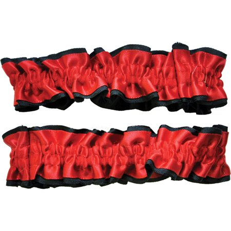 Morris Costumes Armbands Garters Red Black Pair Adult Halloween Accessory](Pairs Costumes)