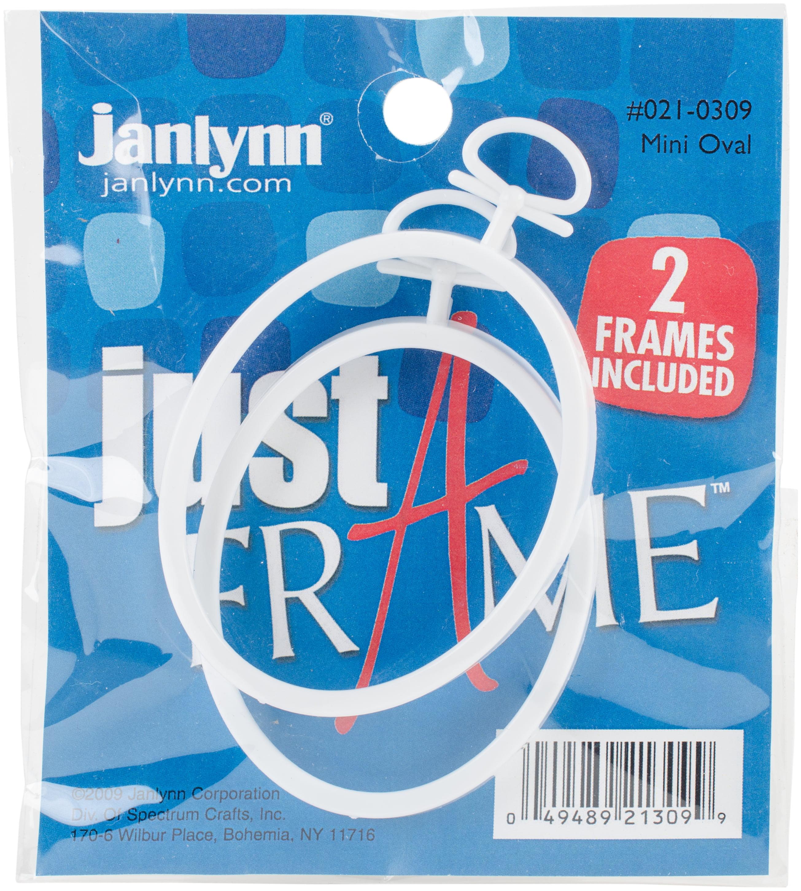 "Janlynn Just A Frame Mini Oval 2.25""X2.75"" 2/Pkg-White"