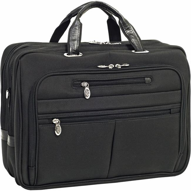 McKlein 76515 17 inch Rockford Fly-Through Checkpoint-Friendly Laptop Case-Black Nylon