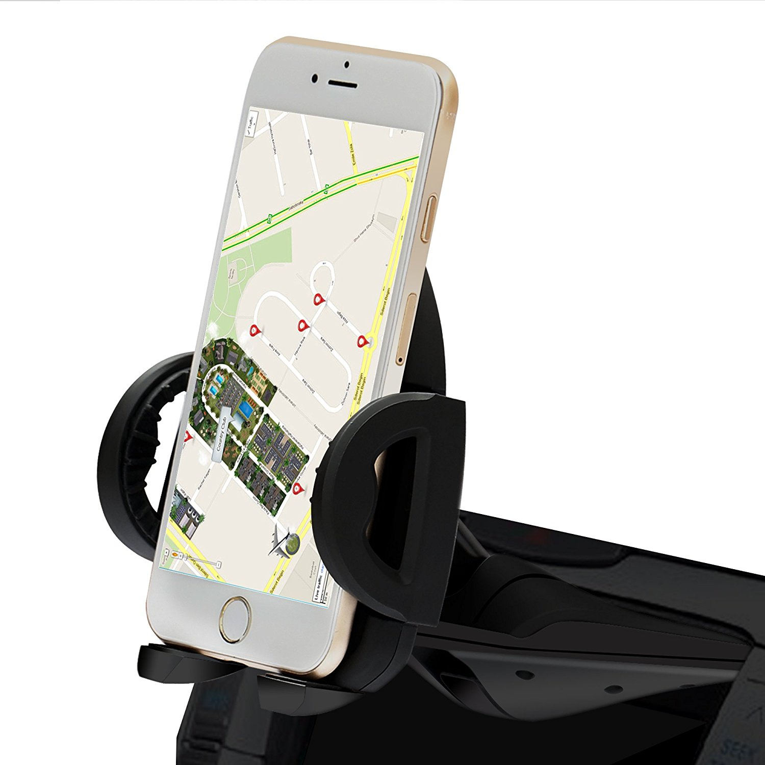 IPOW CD Slot Phone Holder Mount CD Slot Smartphone Holder Universal for iPhone XR, Xs, Xs Max, X, 8, 8 Plus, 7, 7 6, 6s, 6s, 6, SE, 5s, 5, 5c, Samsung Galaxy & Note
