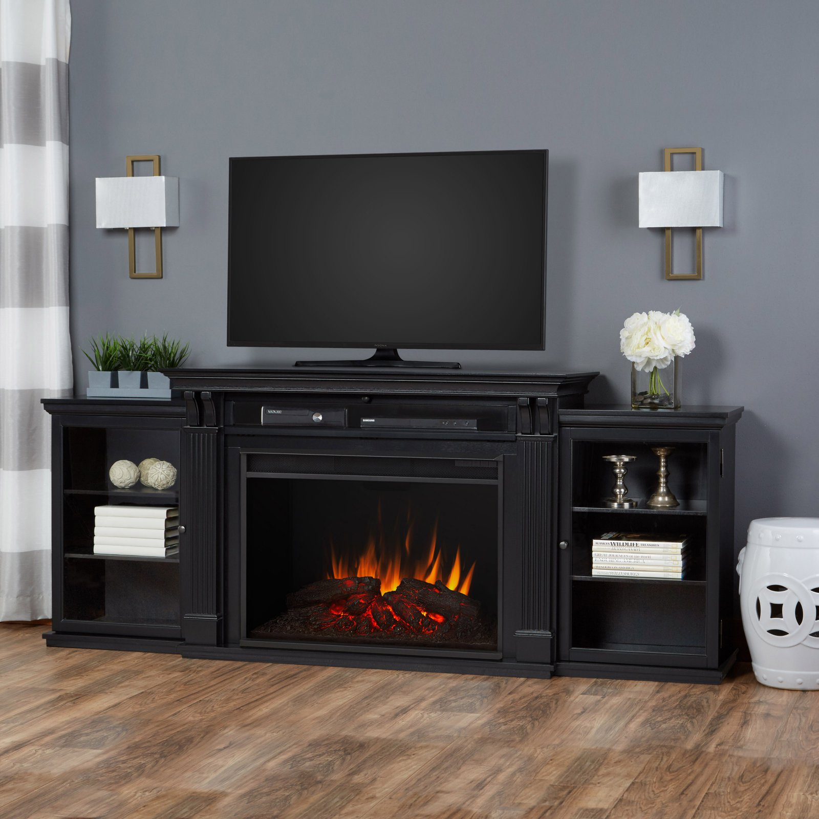 Real Flame Tracey Grand Entertainment Electric Fireplace